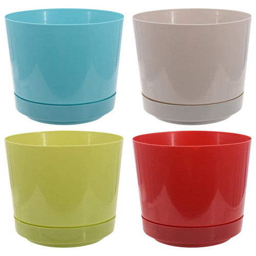 Decorative Colorful Plastic Planter Mix n' Match for Extra Savings (247882)