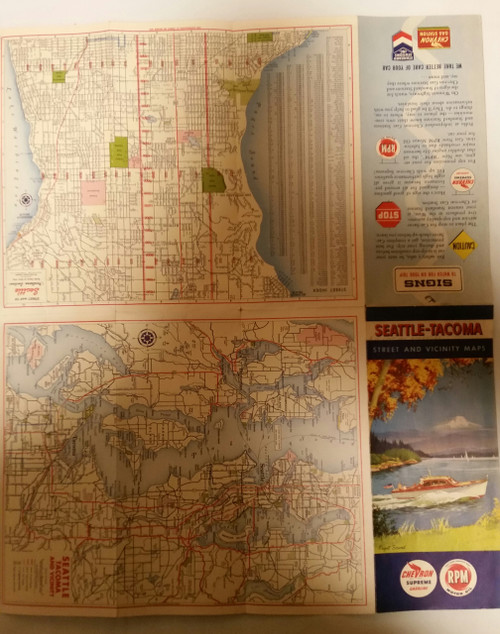 Vintage Seattle- Tacoma Street & Vicinity Maps (vstvm)