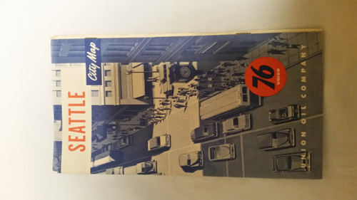 Vintage Seattle City Map 76 Union Oil Company (vscm76)