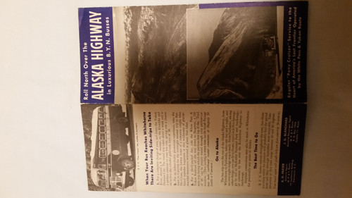 Vintage Roll North Over the Alaska Highway in BYN Busses Booklet (vrnah)