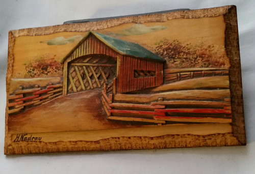 Wood Covered Bridge Planck by H Nadea
