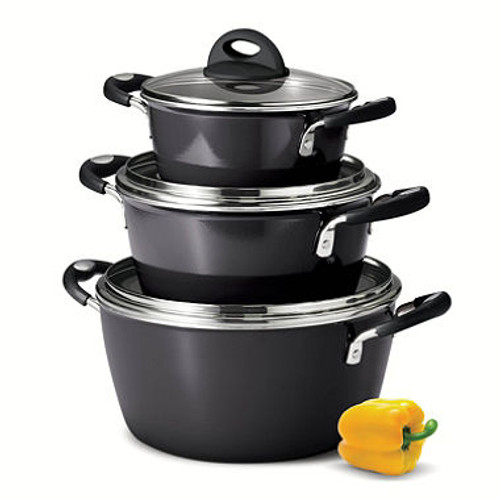 Tramontina 6-Piece Stackable Cookware Set (Assorted Colors) (80143/613DS)