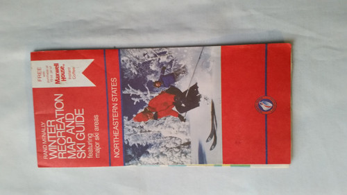 Vintage Rand McNally Winter Recreation Map and Ski Guide (vrmwr)