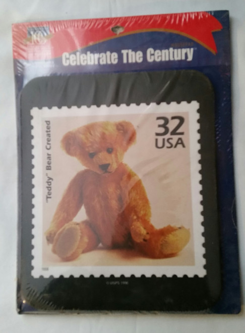 Collectible 1998 USPS TEDDY BEAR 32 Cent Stamp MOUSE PAD Celebrate The Century (1998)
