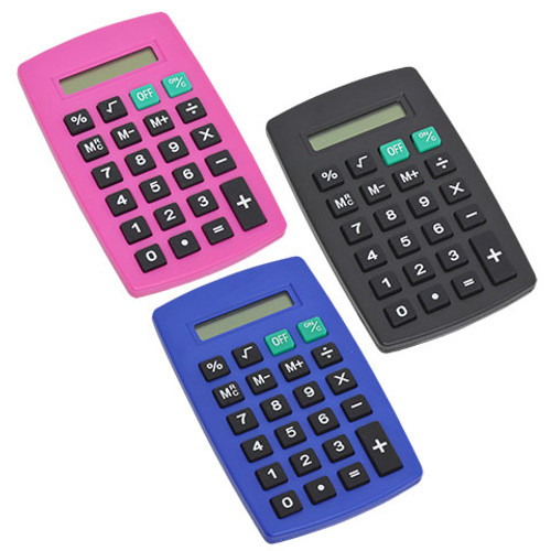 8-Digit Handheld Calculators Dozen Deal