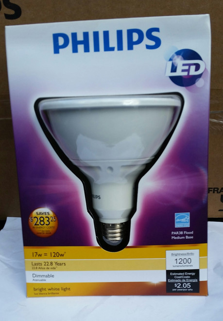Phillips 432954 19.5 Watt Led Par38 Indoor Flood Light Bulb (Pack of 2) Case Lot (432954)