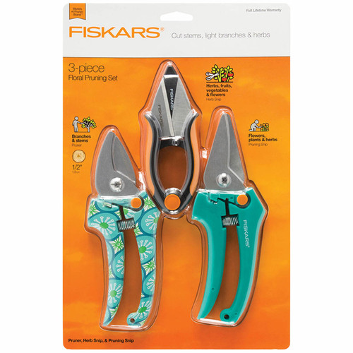 Fiskars Designer Pruning & Herb 3-Pc. Set (377770-1001)