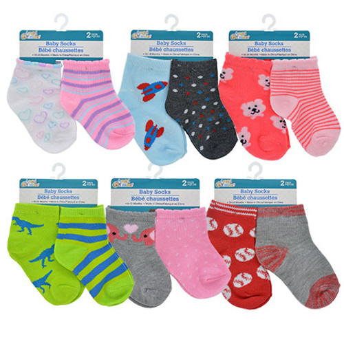 Baby Colorful Socks, 2-ct. Packs Dozen Deal
