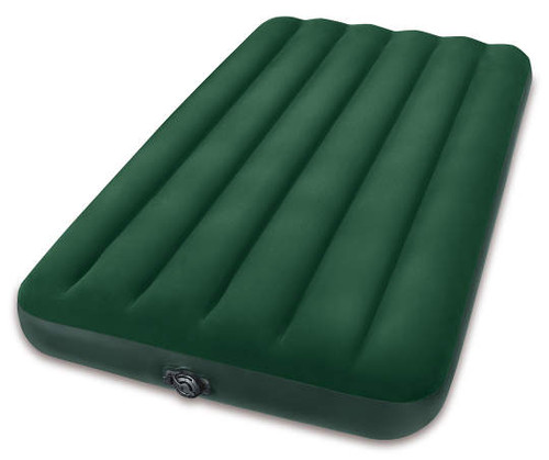 Intex Green Twin Prestige Downy Air Mattress with Combo Pump