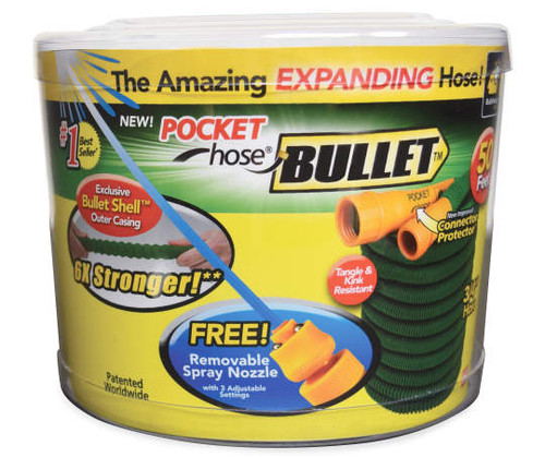 50' Pocket Hose® Bullet™ Expanding Garden Hose As Seen on TV