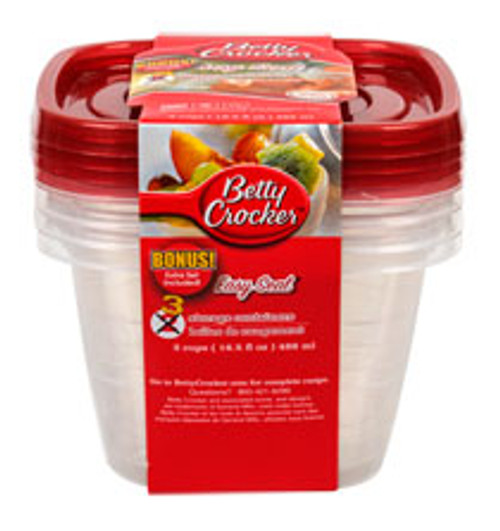 Betty Crocker Storage Containers with Lids