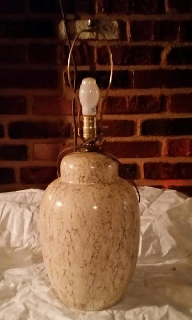 Tan/Brown Ceramic Table Lamp