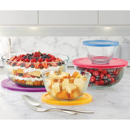 Pyrex Simply Store Decorated Glass Storage 8-Piece Set ( 1050079)