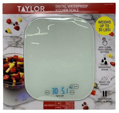 Taylor Digital LED Waterproof Kitchen Scale (077784033609)