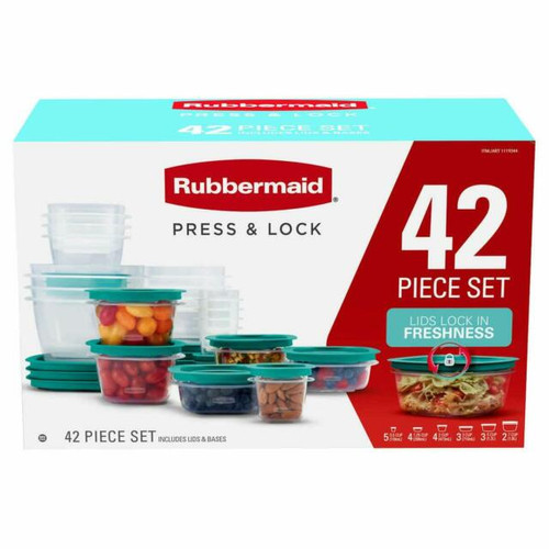 Rubbermaid 42-piece Press & Lock Food Storage Set (071691520245)