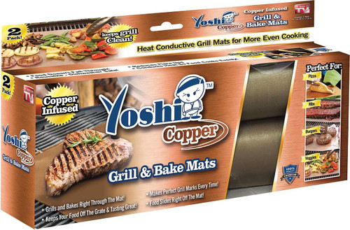 Yoshi Copper Grill & Bake Mats - 2 pack As Seen on TV (754502033799)