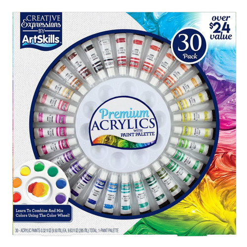 The ArtSkills 30 Piece Premium Acrylic Paint Set (980160608)
