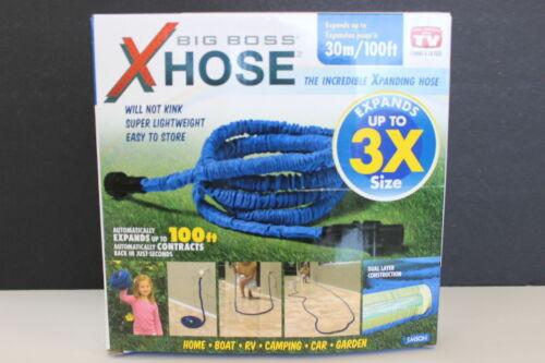 Big Boss XHose By Emson Expanding 100FT Hose Plastic Fittings Blue 9191FE NIB (9191FE)