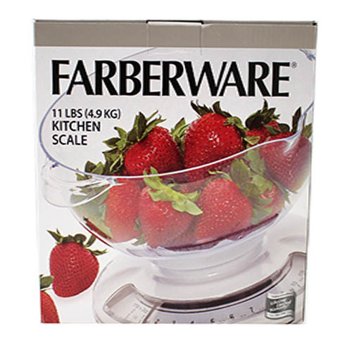 FARBERWARE KITCHEN SCALE WITH REMOVABLE BOWL ( 5225829)