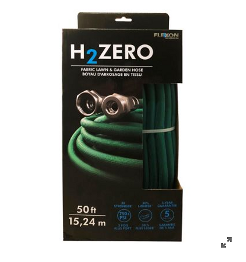 Flexon H2Zero Fabric Lawn and Garden Hose (H2ZERO50 )