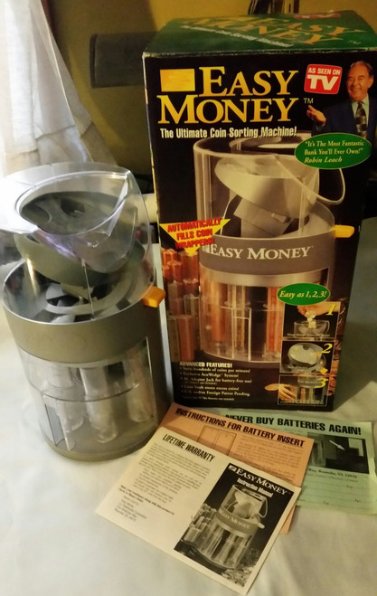 Easy Money The Ultimate Coin Sorting Machine as Seen on TV (097298060014 )