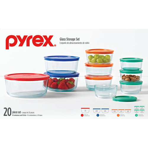 Pyrex 20-Piece Glass Storage Set (1107795)