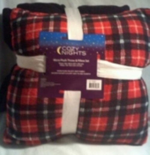 Cozy Nights Micro Plush Throw & Pillow set