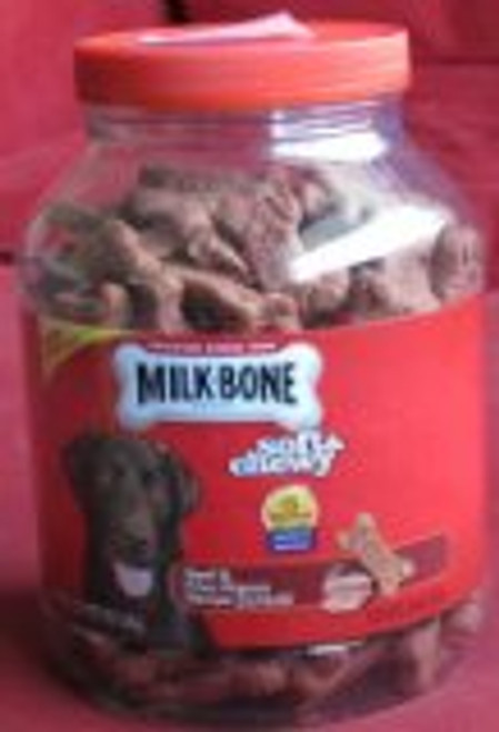 Milk-Bone Soft & Chewy Beef Recipe Dog Snacks, 37 oz. ( 510240)