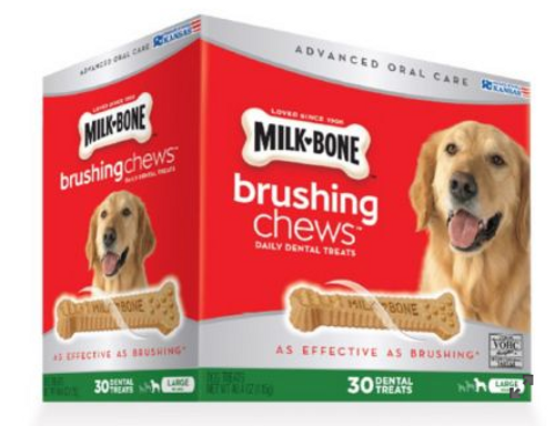 Milk-Bone Brushing Chews Daily Dental Treats, 30 ct. (7910000003 )