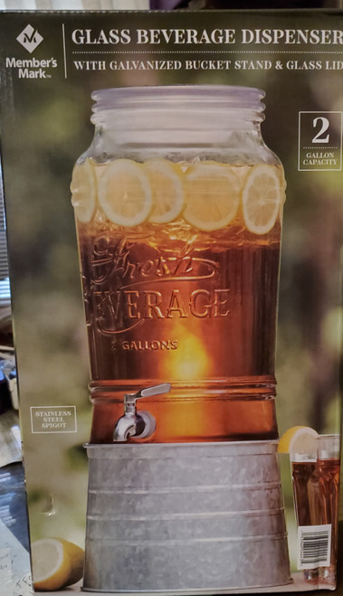 Glass Beverage Dispenser choose from styles  Clearanced Priced