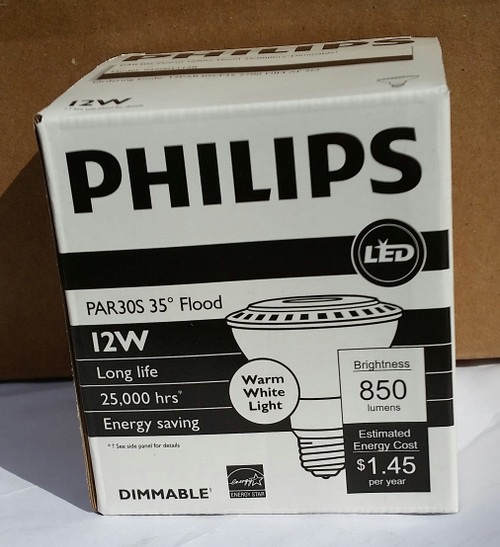PHILIPS 435321 LED Lamp, PAR30S, 12W, 2700K, Warm White (435321ea)
