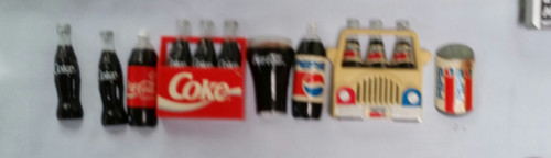 Vintage Coke & Pepsi Magnets Lot of 8