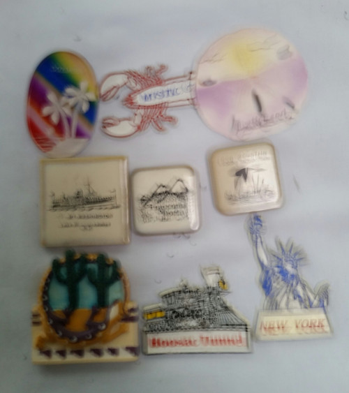Vintage Vacation Locations Magnets Lot of 9