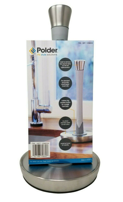 Polder Single-Tear Paper Towel Holder ( 047188706607)