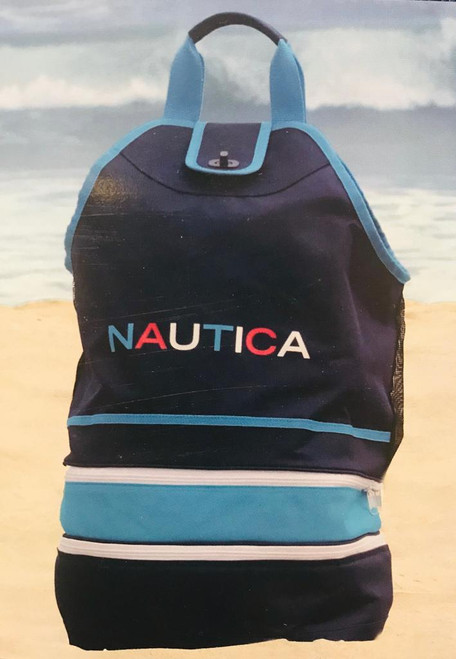 Nautica Beach Cooler Tote Navy (012655026588)