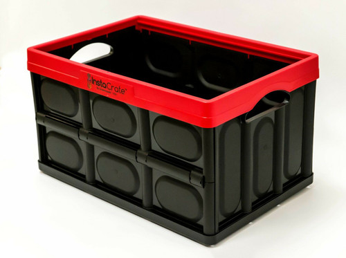 GreenMade InstaCrate Collapsible Storage Container, 12 gal, Red/black (737839948998)