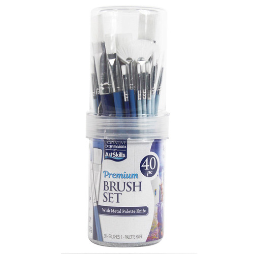 ArtSkills Premium Brush Tube, 40 Pieces (PA-6037)
