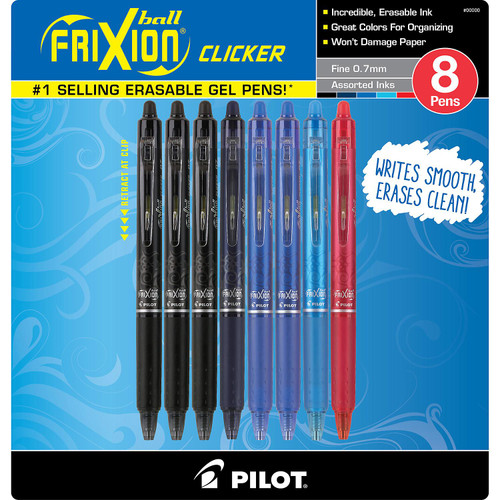 Pilot FriXion Clicker Fine Point Retractable Erasable Gel Ink Pens (13148)