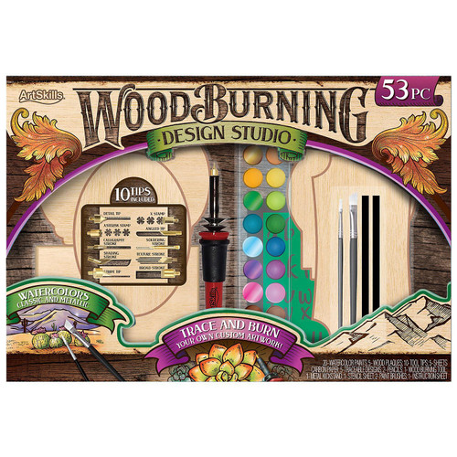 ArtSkills Wood Burning Kit, 53 Pieces (980203787) (