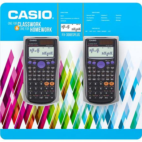 Casio FX-300ESPLUS Scientific Calculator 2 Pack (FX-300ES)