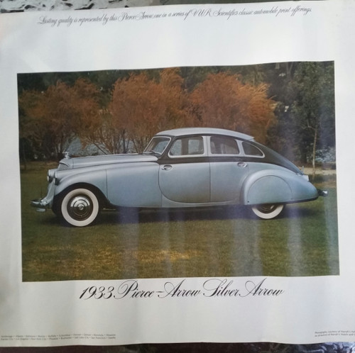 1933 Pierce-Arrow Silver Arrow poster