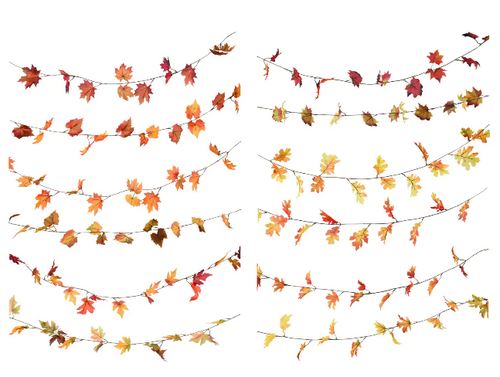 Floral Garden Maple Oak Leaf Garland, 5 ft. Strands