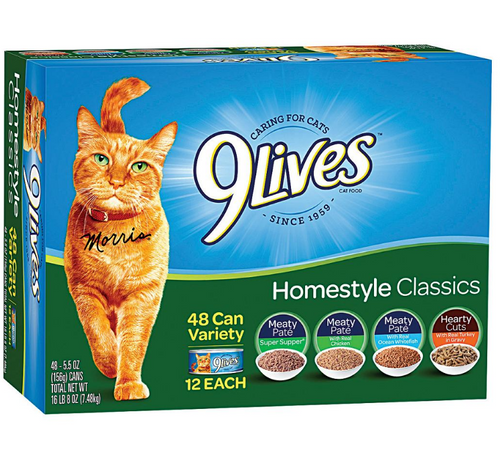 9Lives Homestyle Classics Wet Cat Food Variety Pack, 48 pk./5.5 oz. (19859)