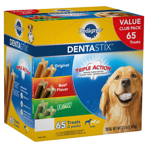 Pedigree DentaStix Variety Dog Treats, 65-count (1292426)