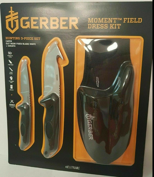GERBER KNIFE MOMENT 3 PC HUNTING FIELD DRESSING SET (013658161382)