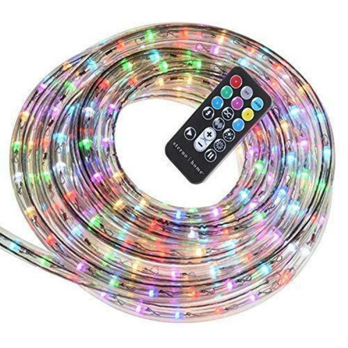 PARADISE LED COLOR CHANGING ROPE LIGHT KIT 18FT W/REMOTE CONTROL (627442261761)