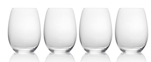 Mikasa Julie Stemless Wine Glasses, 4 pk. ( 5253471)