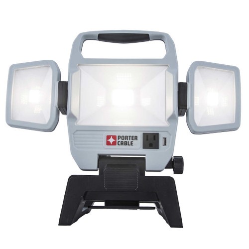 Porter Cable Triple Head Folding Work Light 5000 Lumens (845473079005)