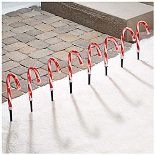 Lighted Pathway Candy Canes, 8-Pack (191004)