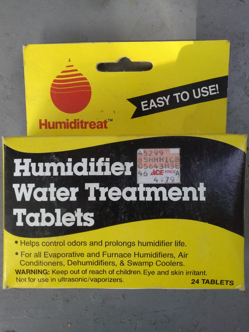 Humidifer Water Treatment Tablets pk 24